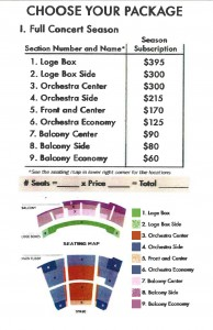seat map with pricing